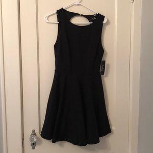 Lulu little black backless dress